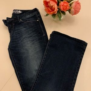 Dark denim boot cut from Express